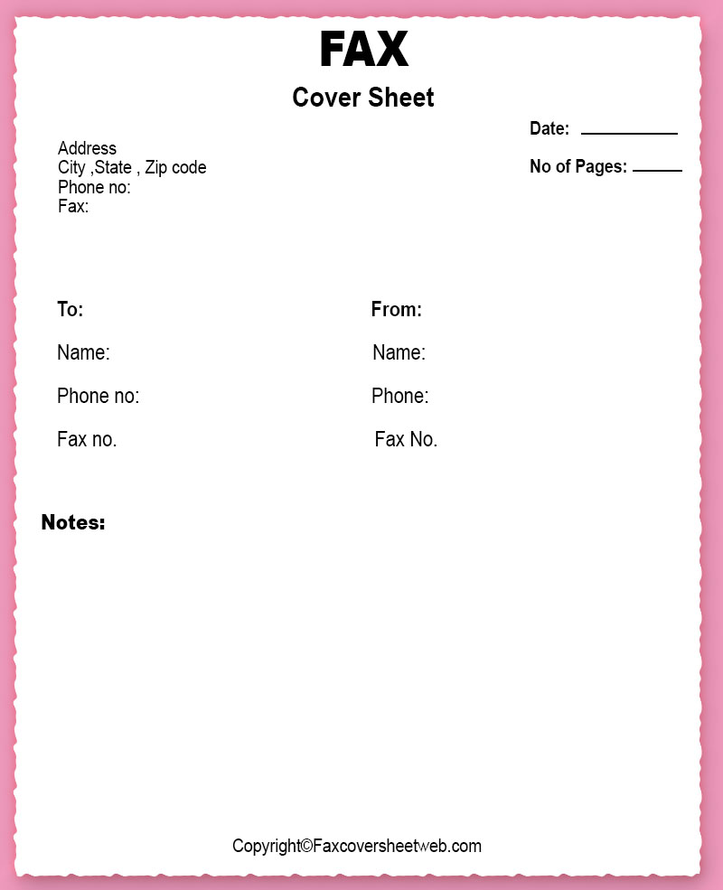 Confidential Fax Cover Sheet Word Template